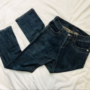 Michael Kors blue denim jeans flap pockets size 6